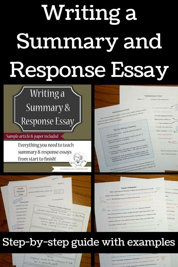 how to write a summary of an article example