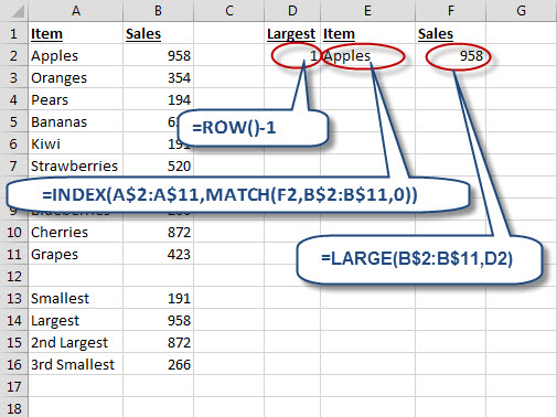 excel all formulas list with example