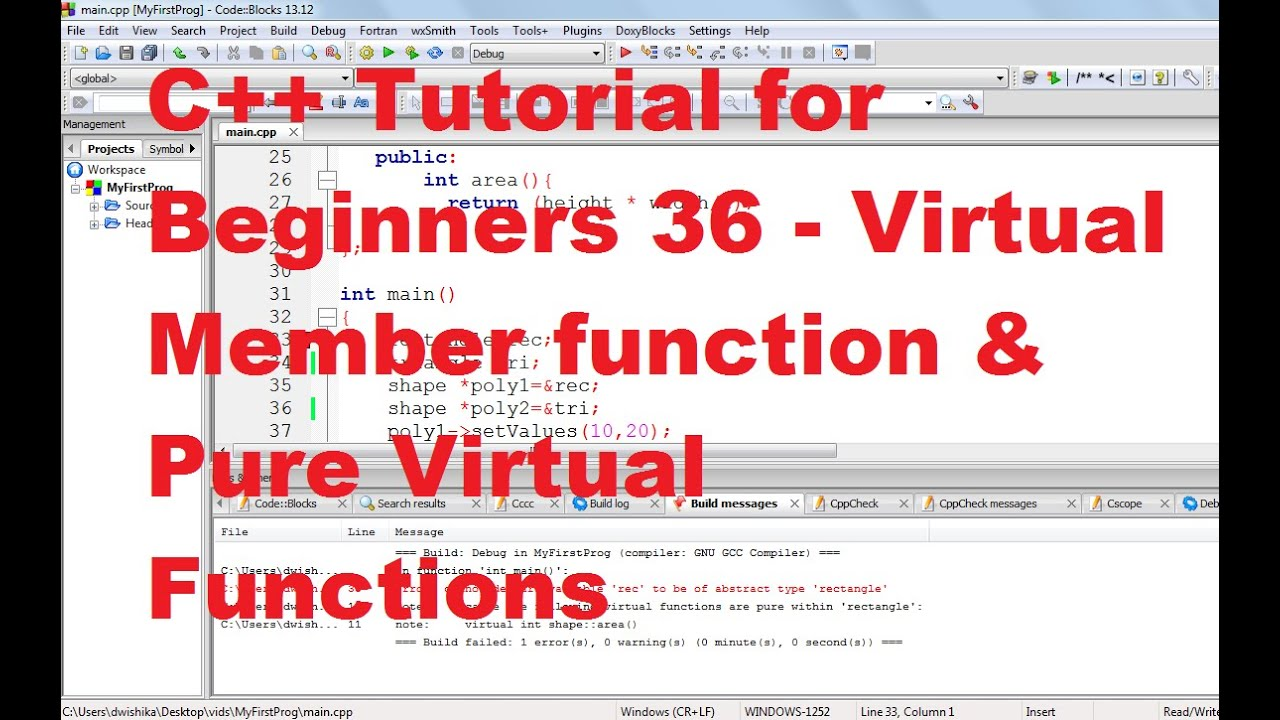 virtual function in c++ with example pdf
