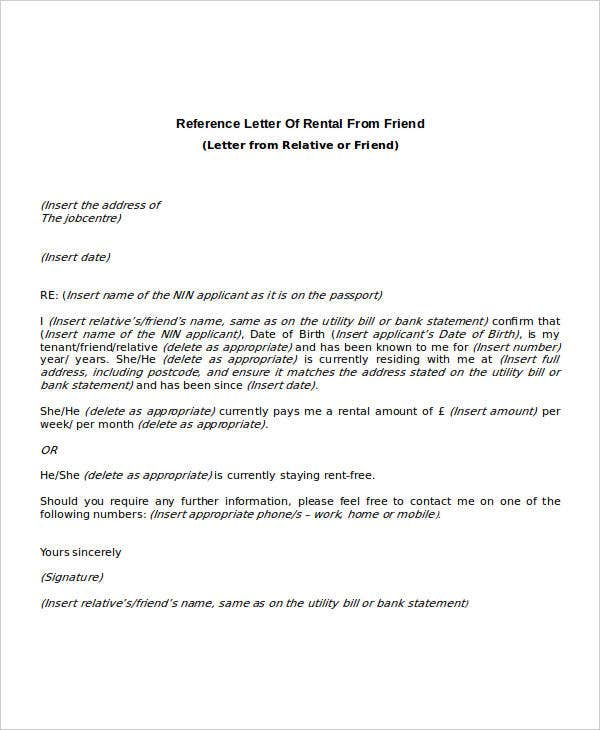 example of reference letter for apartment rental from employer