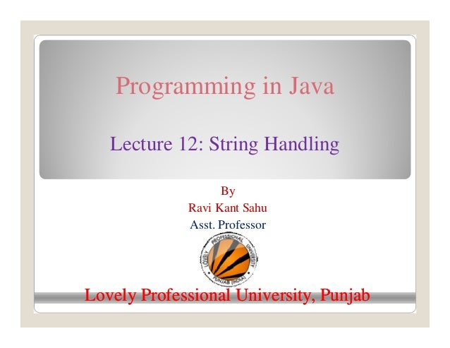 string class example in java