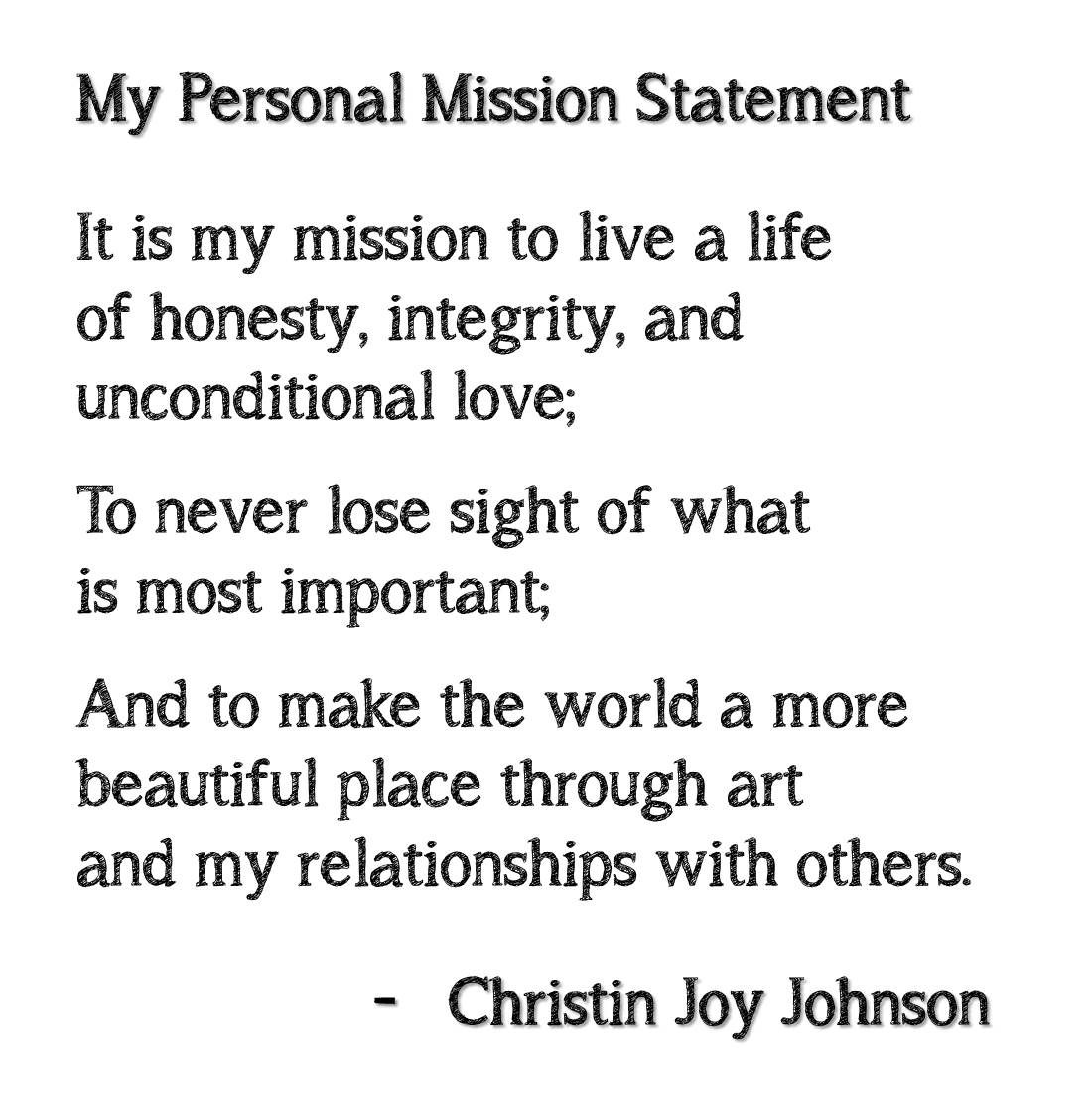 personal trainer mission statement example