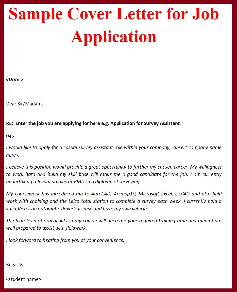 example of cover letter for visa