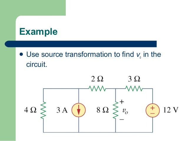 superposition circuits example for all resistor used