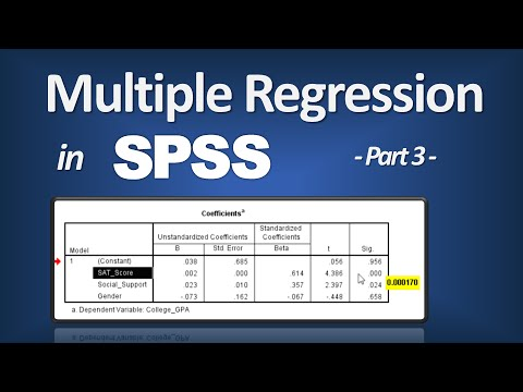 compute predicted values multivariable regression example