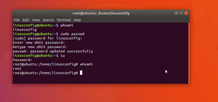 sudo command example in linux