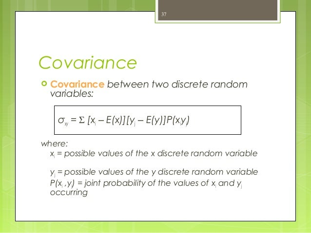 covariance of two random variables example