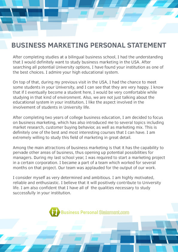 statement of work example marketing