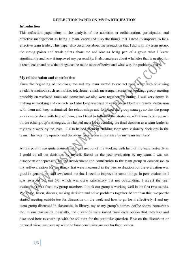 example of significant resesarch experience essay