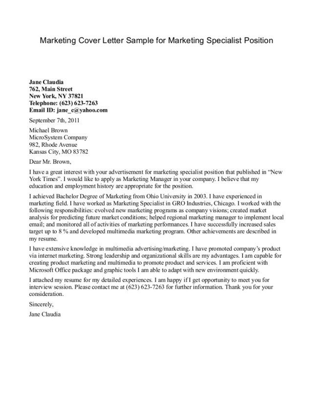 mcmaster internship cover letter example