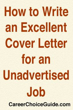 example unadvertised cover letters for youth