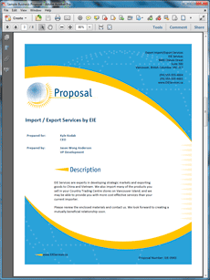 example of business proposal to a service provider