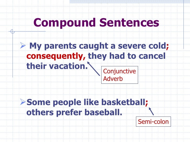 give example of compound sentence