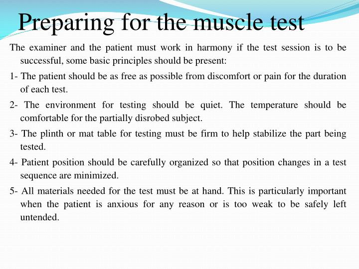 screening session for sensory test example