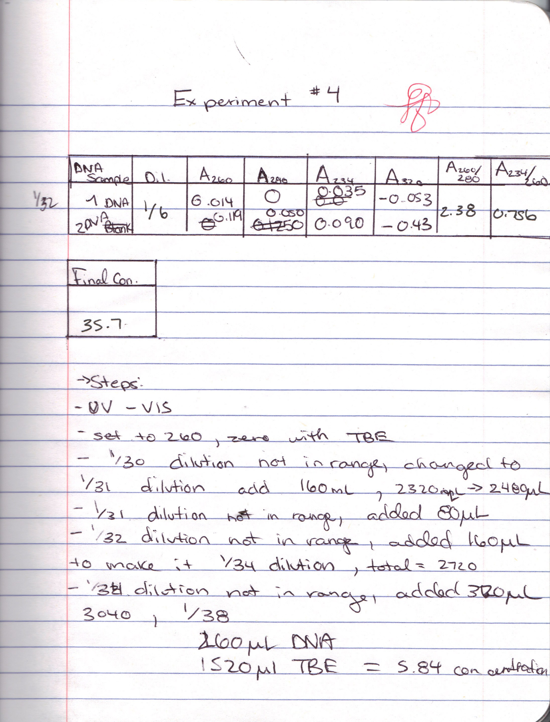 organic chemistry lab notebook example