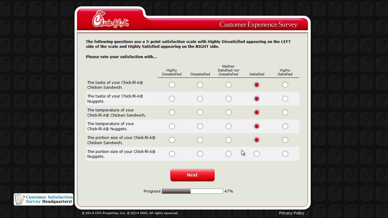 chick fil a validation code example