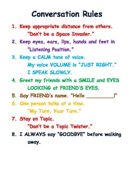 example of ground rules in classroom