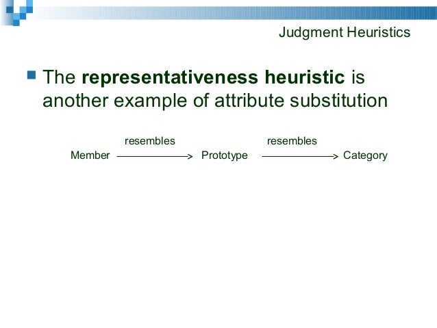 availability heuristic example of substitution heuristic