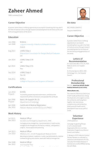 curriculum vitae example for doctors university of toronto