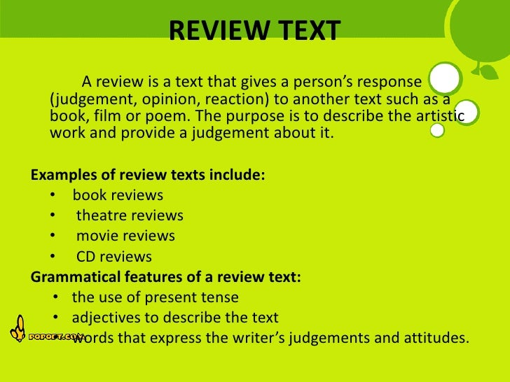 example of review text movie