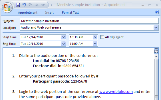 email inviting to a meeting example