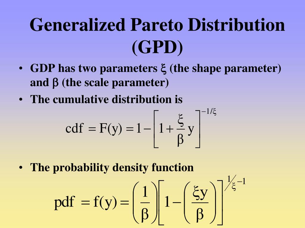 generalized extreme value distribution example