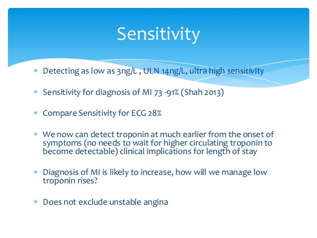 low sensitivity but high specificity example