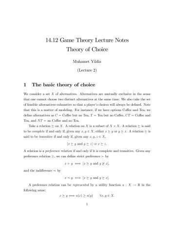 game theory in politics example