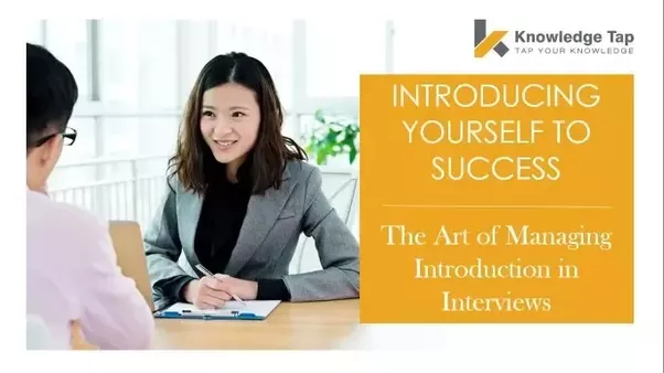 example interview present yourself script