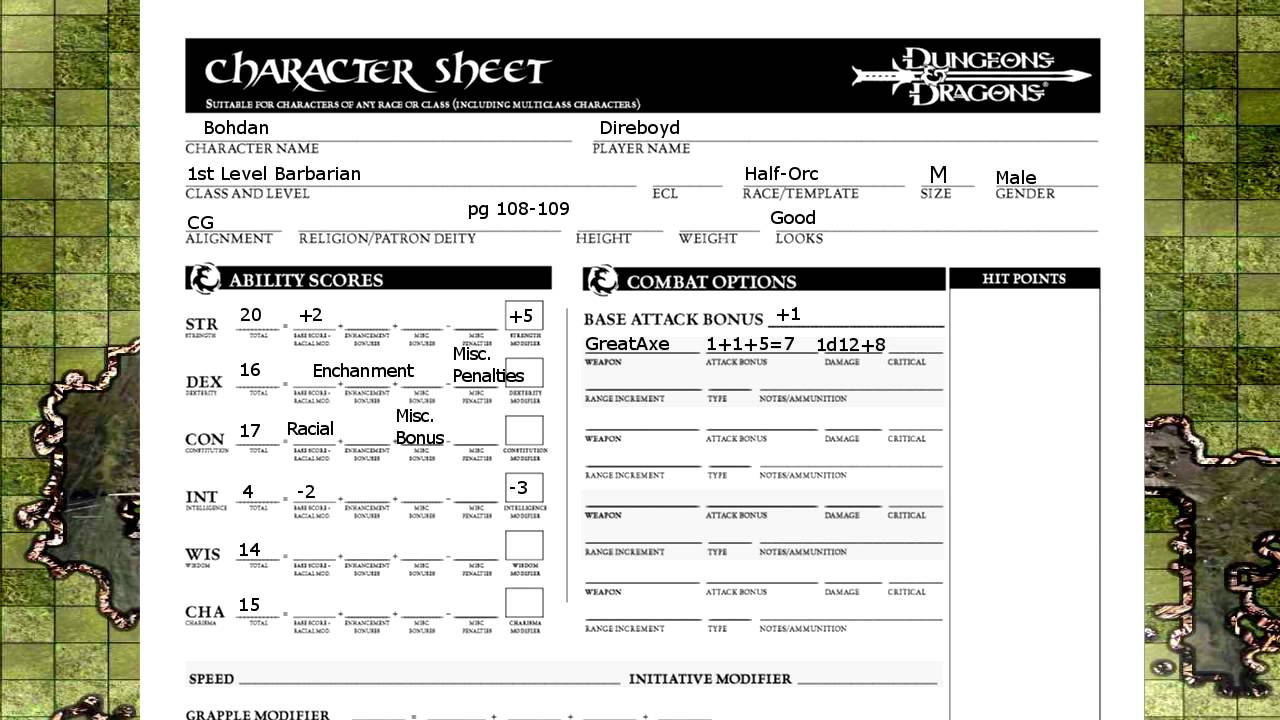 level 4 paladin 5e roll 20 character sheet example
