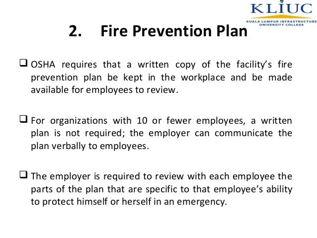 fire prevention program is an example of