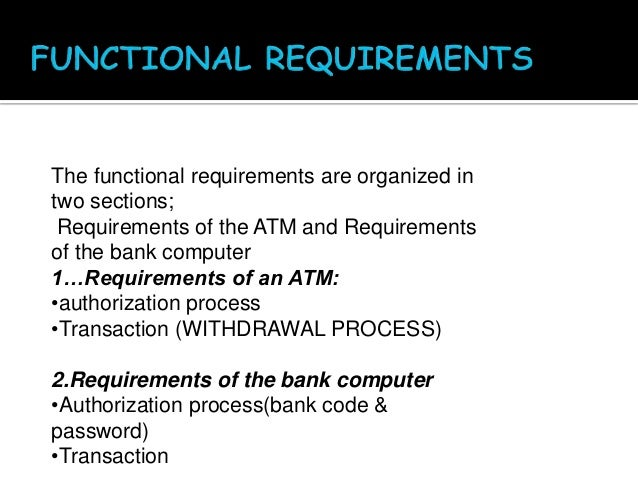 example of a non functional requirement
