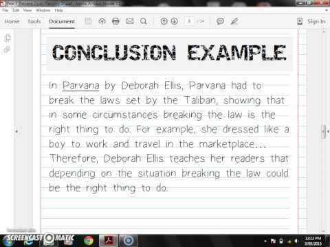 conclusion of a poem essay example