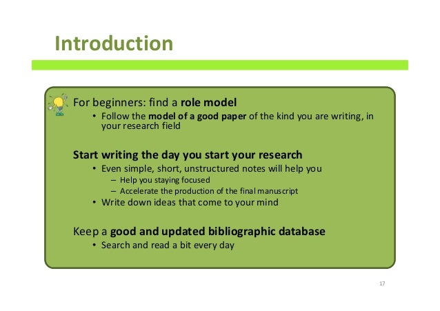 example introduction paragraph for scientific paper