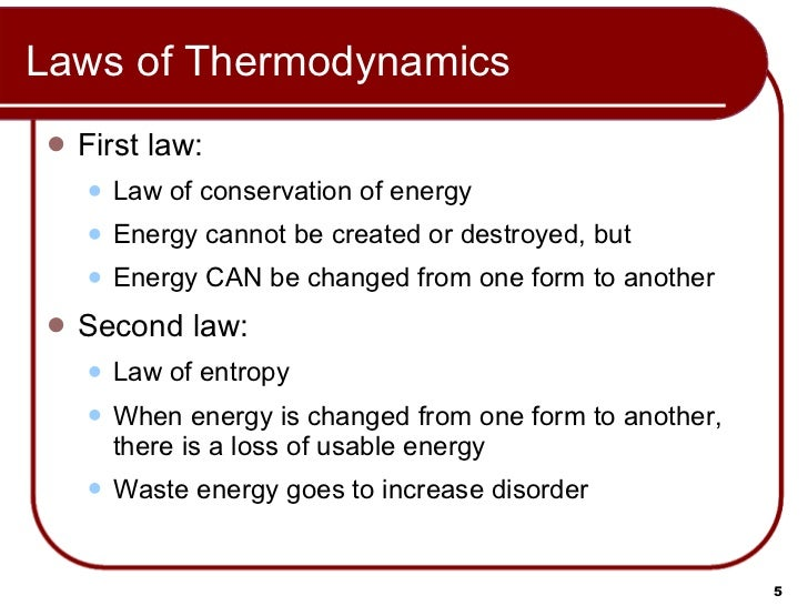 2nd law of thermodynamics example