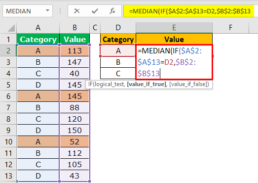 excel formula logical test example