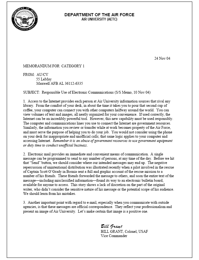 air force lor rebuttal example pdf
