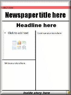 newspaper report example for children