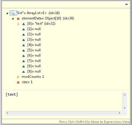 add element to arraylist java example