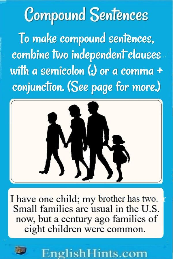 give 3 example of compound sentence