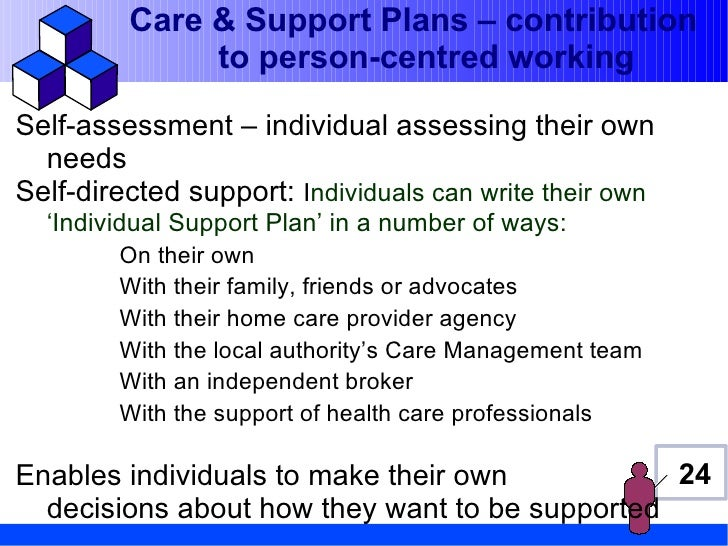 person centred care plan example