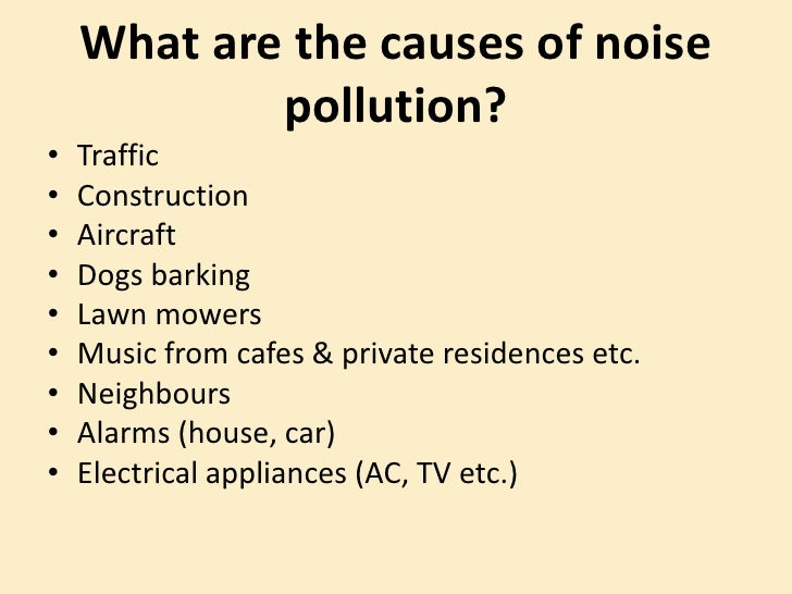 pollution caused by automobiles is an example of