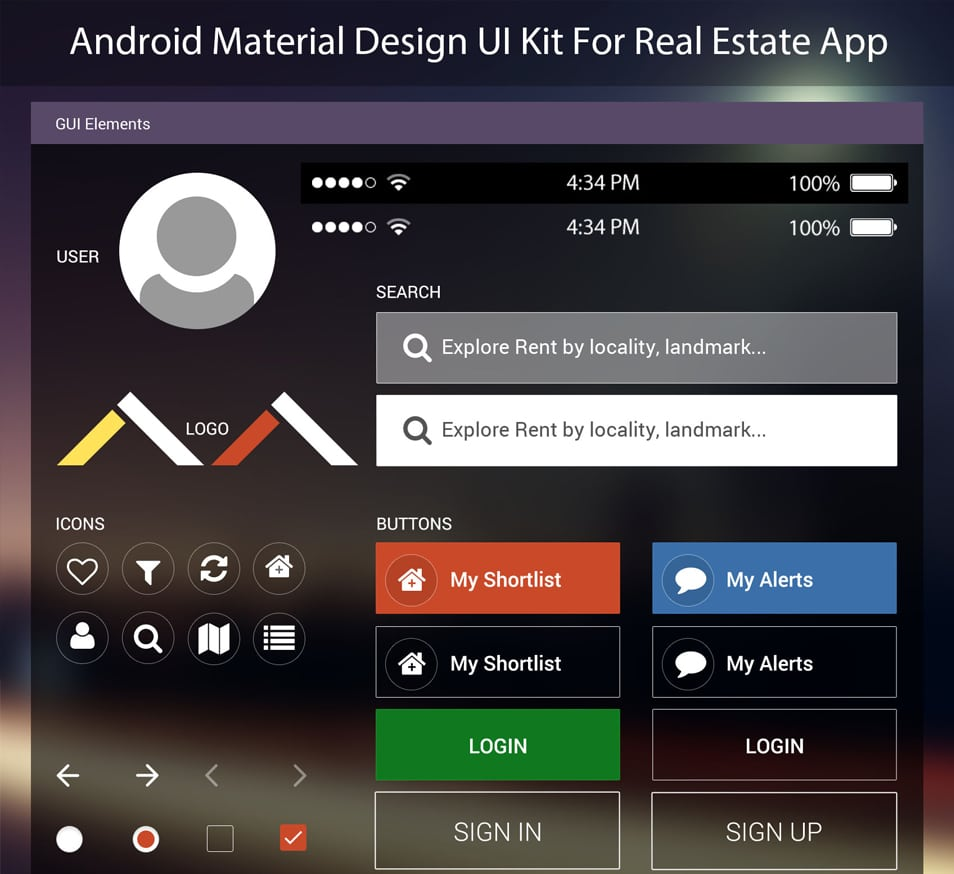 android app material design example