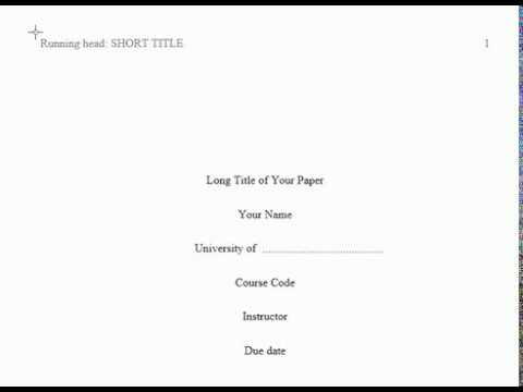 apa format title page example