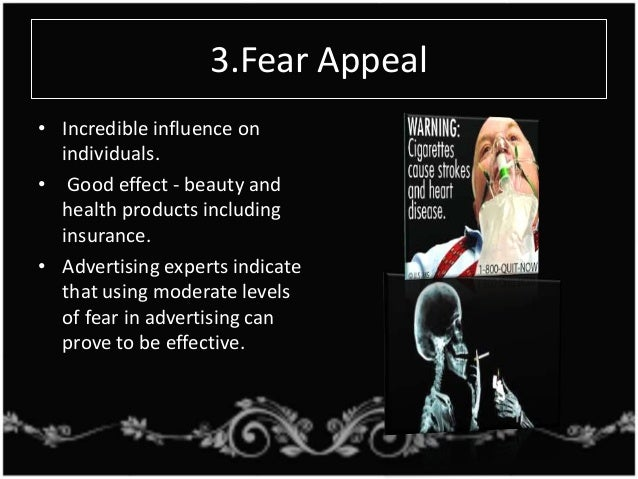 example of fear appeal in marketing
