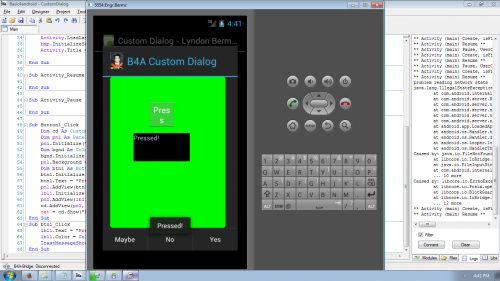 android custom popup dialog example
