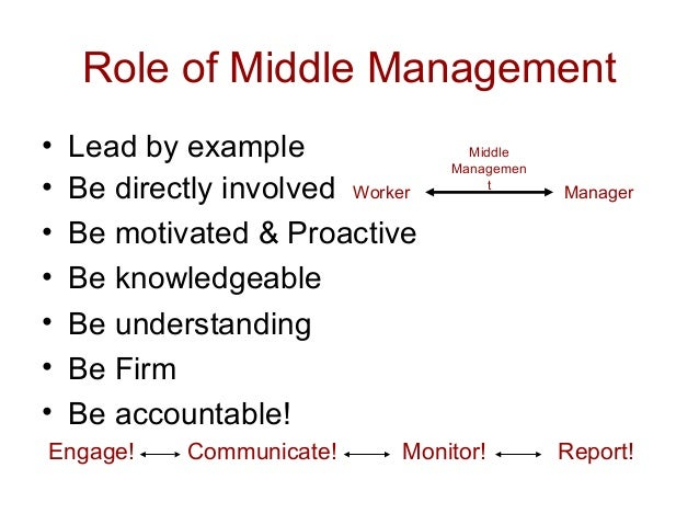 example of monitor role in management