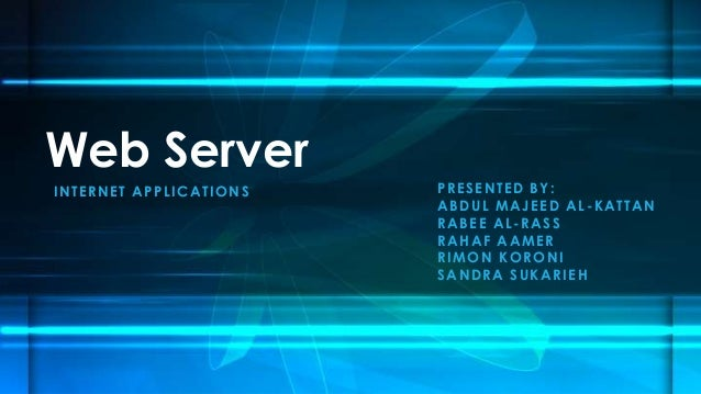 web and server applications example