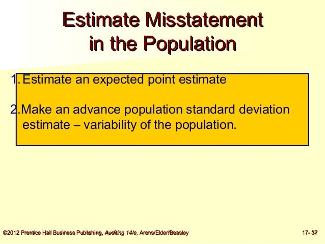 example of calculating projected misstatement and tolerable error