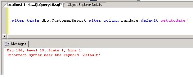 example of default constraint in sql